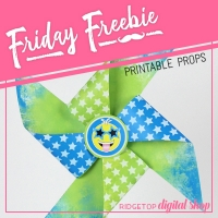 Pinwheel - Blue & Lime