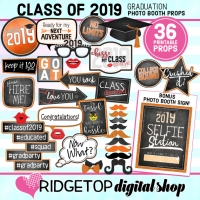 Class of 2019 Photo Props - Orange
