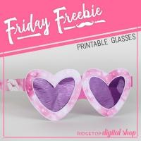 Heart Glasses Printable