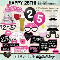 Ridgetop Digital Shop | 25th Birthday Photo Booth Props
