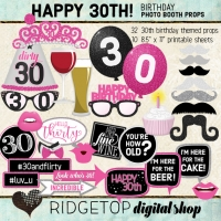 Ridgetop Digital Shop | 30th Birthday Photo Booth Props