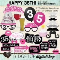 Ridgetop Digital Shop | 35th Birthday Photo Booth Props