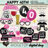 Ridgetop Digital Shop | 40th Birthday Photo Booth Props