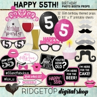 Ridgetop Digital Shop | 55th Birthday Photo Booth Props