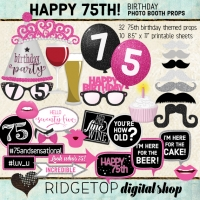 Ridgetop Digital Shop | 75th Birthday Photo Booth Props