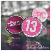 13th Birthday Candy Stickers