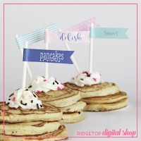 PJs and Pancakes Straw Flags