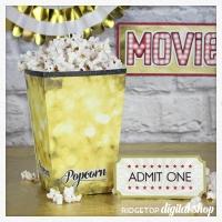 Popcorn Box Movie Night Printable