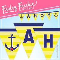 Ahoy Pennant Banner
