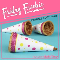 Cone Wrapper - Pink & Yellow
