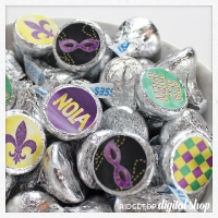 Mardi Gras Candy Stickers