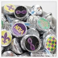 Mardi Gras Candy Stickers