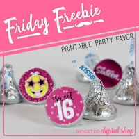 16th Birthday Candy Stickers