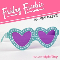 Heart Glasses Printable