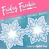 Snowflake Glasses Printable