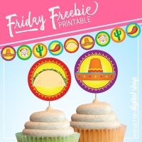 Cupcake Toppers & Banner