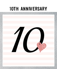 Ridgetop Digital Shop | 10th Wedding Anniversary Photo Booth Props | Rose Gold