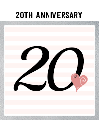 Ridgetop Digital Shop | 20th Wedding Anniversary Photo Booth Props | Rose Gold