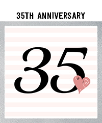 Ridgetop Digital Shop | 35th Wedding Anniversary Photo Booth Props | Rose Gold