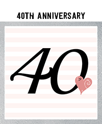 Ridgetop Digital Shop | 40th Wedding Anniversary Photo Booth Props | Rose Gold