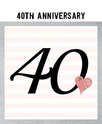 Ridgetop Digital Shop | 40th Wedding Anniversary Photo Booth Props | Rose Gold