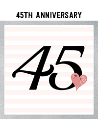 Ridgetop Digital Shop | 45th Wedding Anniversary Photo Booth Props | Rose Gold