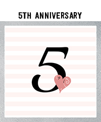 Ridgetop Digital Shop | 5th Wedding Anniversary Photo Booth Props | Rose Gold
