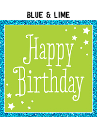 Birthday - Blue & Lime