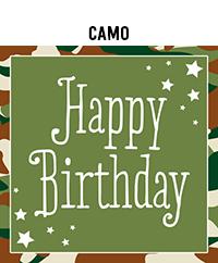 Birthday - Camo