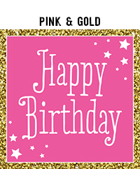 Birthday - Pink & Black