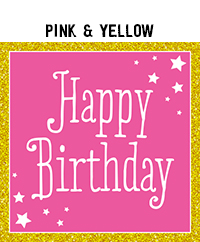 Birthday - Pink & Yellow