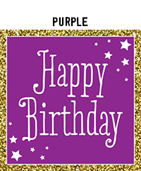 Birthday - Purple