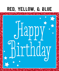 Birthday - Red, Yellow, & Blue