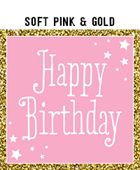 Birthday - Soft Pink & Gold