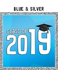 Ridgetop Digital Shop | Class of 2019 Photo Booth Printables | Blue Silver