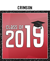 Ridgetop Digital Shop | Class of 2019 Photo Booth Printables | Crimson