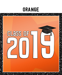 Ridgetop Digital Shop | Class of 2019 Photo Booth Printables | Orange