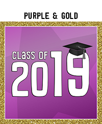 Ridgetop Digital Shop | Class of 2019 Photo Booth Printables | Purple Gold