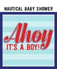 Nautical Baby Shower Photo Booth Props