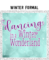 Ridgetop Digital Shop | Winter Formal Photo Booth Props | High School Dance | Dancing in a Winter Wonderland