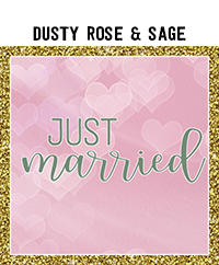Ridgetop Digital Shop | Wedding Day Photo Booth Props | Dusty Rose Sage