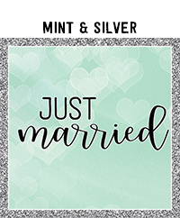 Ridgetop Digital Shop | Wedding Day Photo Booth Props | Mint Silver