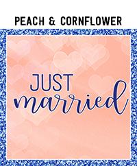 Ridgetop Digital Shop | Wedding Day Photo Booth Props | Peach Cornflower