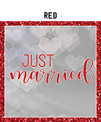 Ridgetop Digital Shop | Wedding Day Photo Booth Props | Red